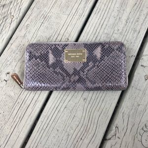 michael kors snake wallet